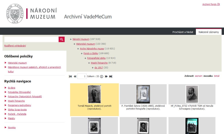 Archivní Vademecum – Archiv Národního muzea