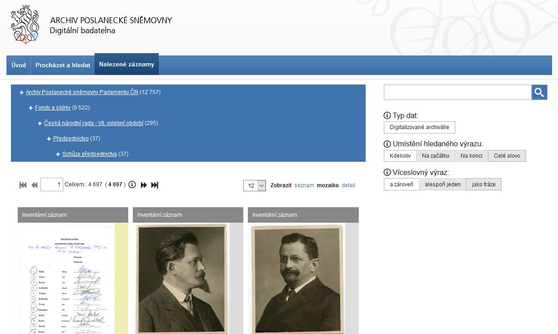 Archivní VadeMeCum – Archivu Poslanecké sněmovny
